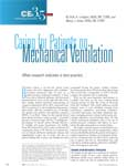 Caring for Patients on Mechanical Ventilation